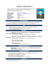Attractive Resume Format For Experienced Simple And Attractive Resume Resume For Your Job Application