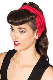 retro headbands banned no talking vintage retro headband black or purp