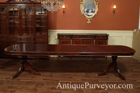 Mahogany Dining Room Furniture Mahogany Dining Room Table With Leaves Seats 12 14 People