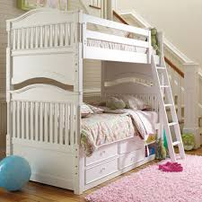 Young America Bedroom Furniture by Mix And Match Cottage Bunk Bed In Piano Key White And Luxury Kid