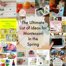 the ultimate list of spring montessori activities natural beach