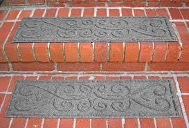 waterhog stair treads in a scroll pattern by waterhog floor mats