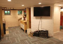 elegant partially finished basement ideas basement finishing amp