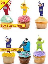 40 teletubbies birthday party cup cake edible wafer rice toppers