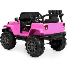 pink jeep bed 12v ride on car truck w parent control pink u2013 best choice products