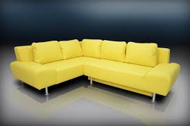 Yellow Leather Sofa by Corner Sofa Beds Precious Home Design