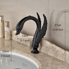 Brushed Bronze Faucets Fontana Oil Rubbed Bronze Dual Handle Swan Faucet