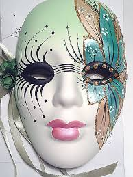 ceramic mardi gras masks ceramic masks collection on ebay