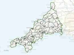 Map Of Cornwall England by Division Maps Cornwall Council
