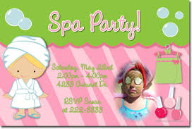 spa birthday invitations candy wrappers thank you cards candy