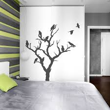 family tree wall decal etsy crow tree wall decal nature spooky art halloween sticker party decor