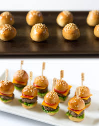 mini canape appetizer how to mini cheeseburgers pizzazzerie