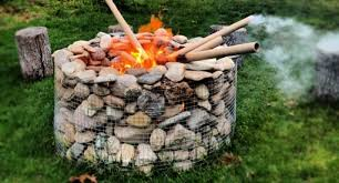 Firepits Uk Gabion Outdoor Pit Pit Design Ideas Usa