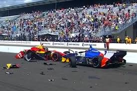 formula 4 crash intense crash at start of indianapolis grand prix video