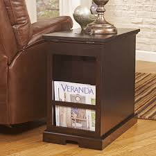 power chairside end table signature design by ashley laflorn power chairside table jcpenney