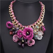 necklace flower handmade images Designer colorful bridal jewelry bride necklace handmade flower jpg