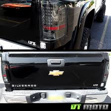 aftermarket lights for trucks smoked 2007 2013 chevy silverado led tail lights ls left right