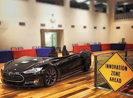 gigaom newest tesla car gets great reception desk