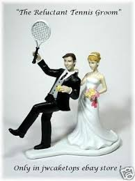 tennis cake toppers wedding cake topper tennis player racquet sports groom themed