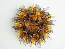 Sunflower Mesh Wreath New Orleans Crafts By Design New Orleans Saints Black And Gold