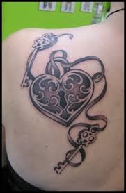 heart lock and 2 key tattoo tattoomagz