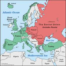 russia map after division europe after world war ii