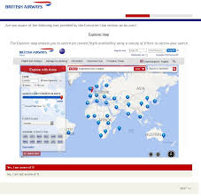 Ba Flights To Usa Map by Has The Explorer Map Gone Again Flyertalk Forums