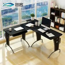 Minimalist Corner Desk Small And Minimalist Corner Study Desk Design Steel Feet Combined