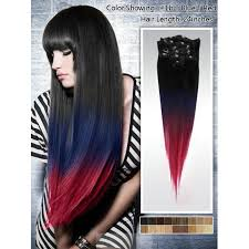 ombre hair extensions clip in three color ombre clip in extensions peruvian hair 1b blue