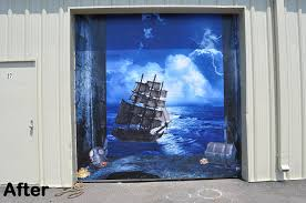 amazon com 3d effect garage door billboard sticker cover decor