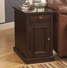 Curved Nightstand End Table Power Outlet Usb Chair Side End Table Sable Brown U2013 Christian U0027s