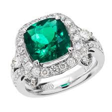 emerald engagement rings images 18k white gold 3 08 colombian emerald diamond ring jpg