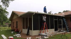 screen room construction in longview kilgore tx area youtube
