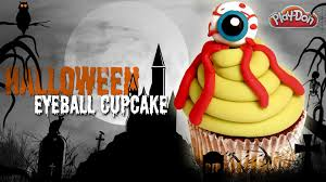 play doh halloween eyeball cupcake eyeball how to make a