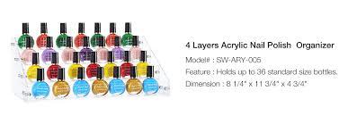 4 layers acrylic nail polish rack tabletop stand holder cosmetics