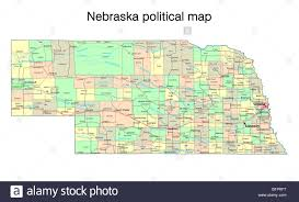 Buffalo State Map by Nebraska State Political Map Stock Photo Royalty Free Image