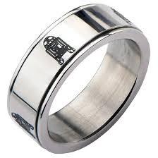 ring spinner men s wars r2 d2 stainless steel spinner ring target