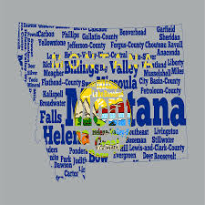 Jefferson State Flag Montana State Flag Word Cloud Digital Art By Brian Reaves