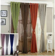 Orange And Brown Curtains Linen Curtains For Living Room Tulle Cloth Curtain White