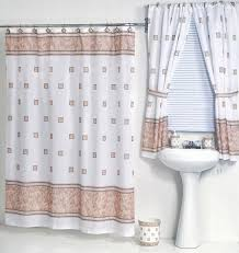 Fabric Shower Curtain With Window Ivory Fabric Shower Curtain
