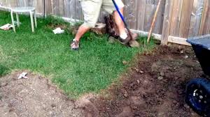 how to remove sod by hand the easy way youtube
