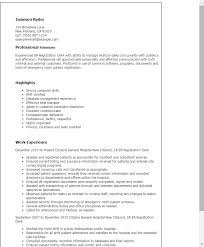 Examples Of Clerical Resumes by Professional Er Registration Clerk Templates To Showcase Your