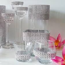 diamond mesh ribbon 4 75 silver gold pink diamond mesh wrap roll sparkle rhinestone