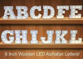 large light up letters white large wooden block marquee freestanding alphabet led light up