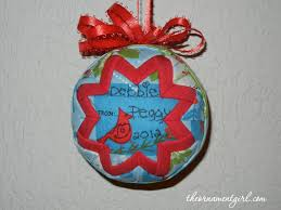 quilted ornament personalized gift the ornament