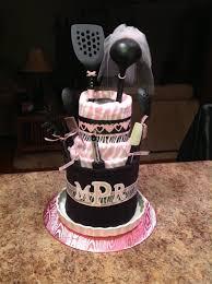 megan u0027s bridal shower cake made from paper towel holder 6 dish