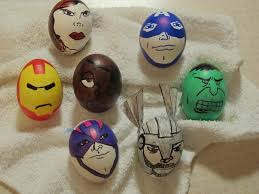faux eggs for decorating eggs easter idea with thor iron hawkeye