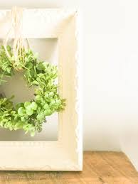 simple farmhouse decor upcycled frame and wreath