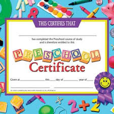 preschool certificates printable preschool certificates new certificate of achievement