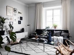 scandinavian livingroom scandinavian living room with black futon living room